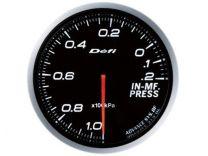 DEFI Advance BF White 60mm Intake Manifold Pressure Gauge (Metric) *SPECIAL ORDER*