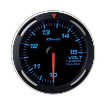 DEFI Blue Racer 52mm Metric Voltage Gauge (US)