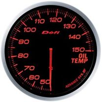 DEFI Advance BF Red 60mm Oil Temperature Gauge (Metric)