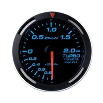 DEFI Blue Racer 52mm METRIC Turbo Gauge (US)