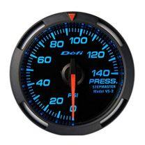 DEFI Blue Racer 52mm Pressure (fuel or oil) Gauge (US)