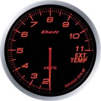 DEFI Advance BF Red 60mm EGT Gauge (Metric)
