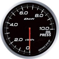 DEFI Advance BF White 60mm Oil Pressure Gauge (Metric)