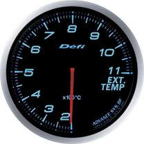 DEFI Advance BF Blue 60mm EGT Gauge (Metric) (Special Order No Cancel)