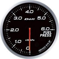 DEFI Advance BF Red 60mm Fuel Pressure Gauge (Metric)