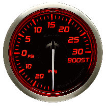DEFI Racer Turbo Gauge N2 52mm 30 PSI (US) Red