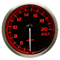 DEFI Racer Exhaust Temp Gauge N2 52mm (US) Red