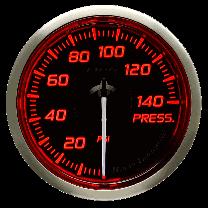 DEFI Racer Pressure Gauge N2 52mm 140 PSI (US) Red