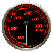 DEFI Racer Temp Gauge N2 52mm (US) Red