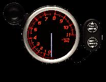 DEFI Racer Gauge N2 11000 RPM Tachometer 80mm Red